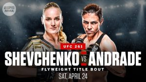 UFC 261 pronostico scommesse Shevchenko vs Andrade