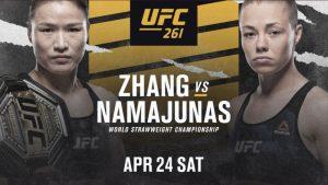 UFC 261 pronostico, scommesse Zhang vs Namajunas