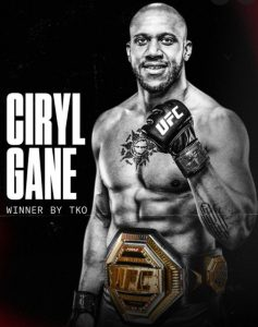Cyril Gane nuovo campione ad interim
